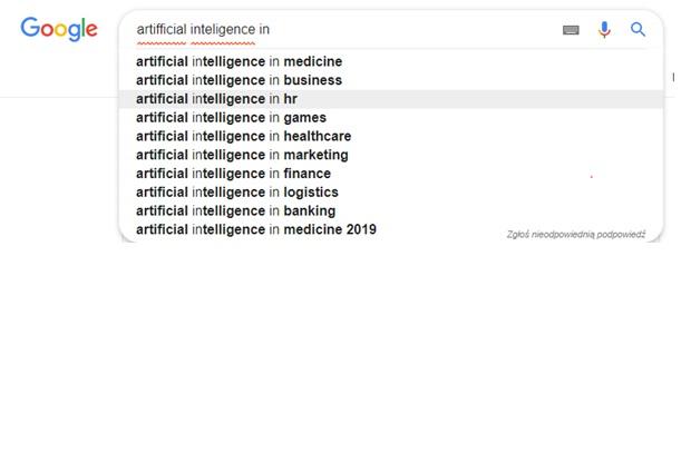 AI wyniki wyszukiwania